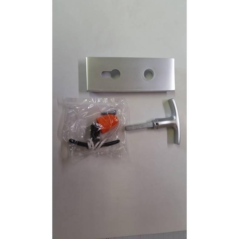 Poign e carre de neuf remplacement de serrure avec for Plaque de proprete porte