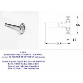 ROULETTE STANDARD 46mm ACIER ZINGUE