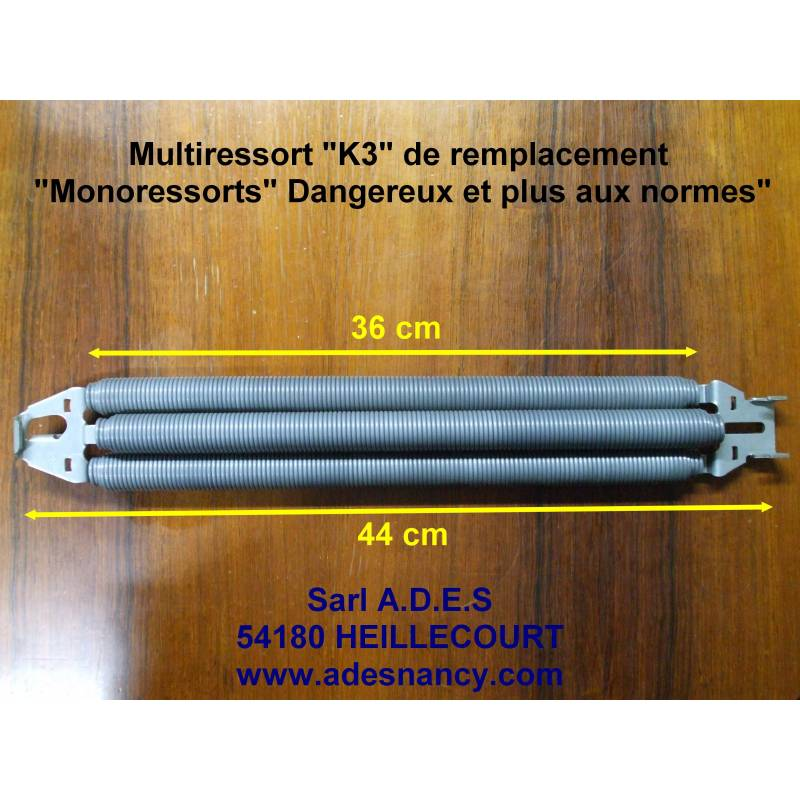 K3 ressorts multiples parfait pour adaptation sur porte for Porte de garage 5m hormann